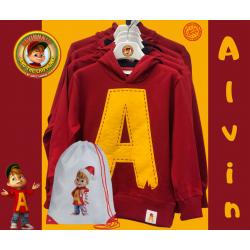 Felpa Alvin original Mitica con sacca Alvin Natale