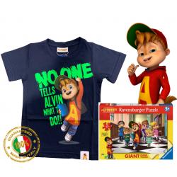 Alvin fluo puzzle T-shirt