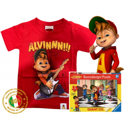 Alvin guitar puzzle T-shirt