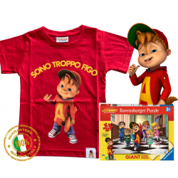 Alvin STF red puzzle T-shirt