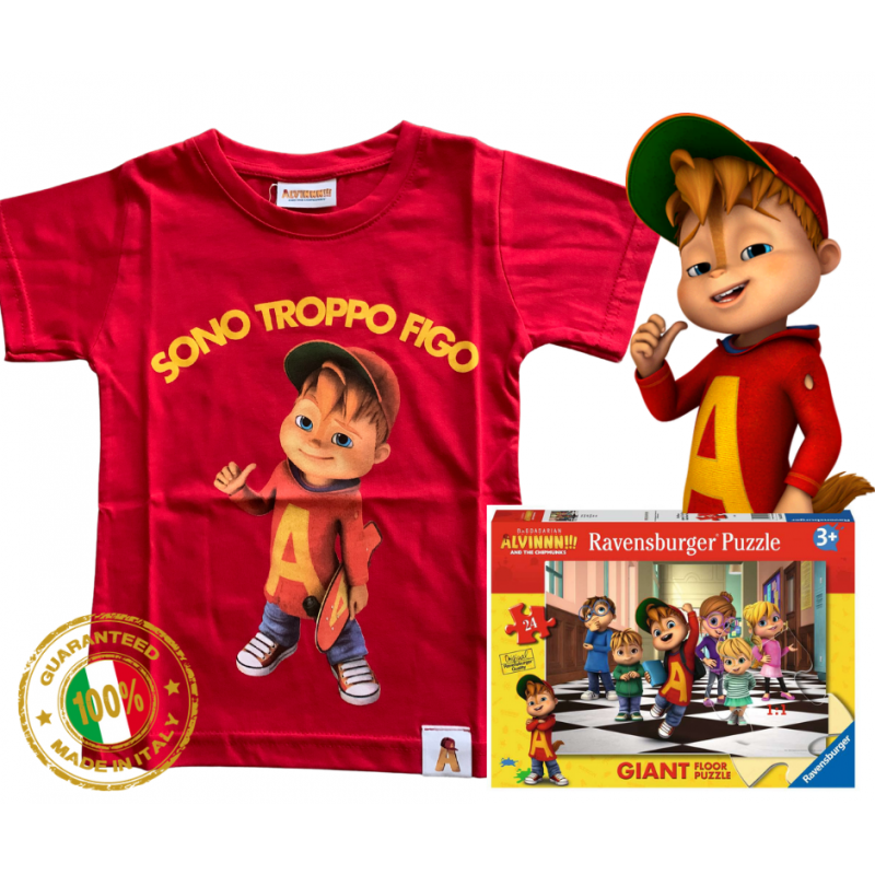 T-shirt Alvin STF red puzzle