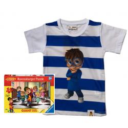 T-shirt Simon sea + puzzle Alvin