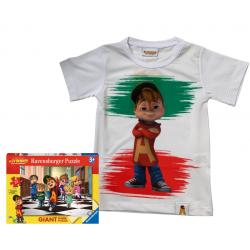 Alvin Italia + puzzle T-shirt